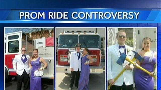 img-students take fire truck to prom