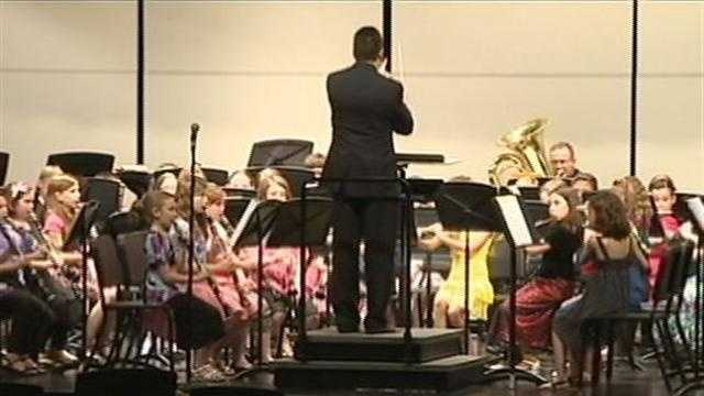 Donegal Elementary School band performs