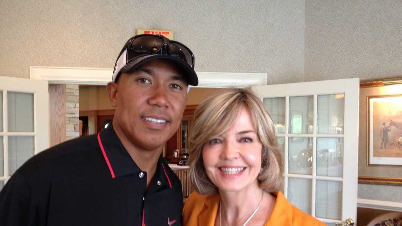 Hines Ward and Sally Wiggin