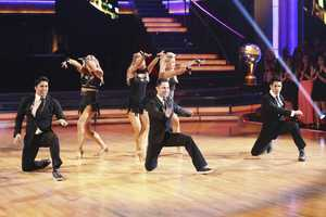 In the final two-hour performance show, the remaining couples competed in three rounds of dance. In the first round, each couple took on a new routine in a dance style that the judges wanted to see again. In round two, the couples were challenged to a Cha Cha relay, where each pair danced to a different section of the same song. In the last round -- and one of the biggest competitive dances of the season -- the couples took on a supersized freestyle featuring special effects, additional dancers and unexpected surprises. (ABC/Adam Taylor)