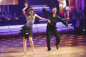 Zendaya & Val - In the final two-hour performance show, the remaining couples competed in three rounds of dance. In the first round, each couple took on a new routine in a dance style that the judges wanted to see again. In round two, the couples were challenged to a Cha Cha relay, where each pair danced to a different section of the same song. In the last round -- and one of the biggest competitive dances of the season -- the couples took on a supersized freestyle featuring special effects, additional dancers and unexpected surprises. (ABC/Adam Taylor)