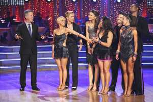 The Final Couples - In the final two-hour performance show, the remaining couples competed in three rounds of dance. In the first round, each couple took on a new routine in a dance style that the judges wanted to see again. In round two, the couples were challenged to a Cha Cha relay, where each pair danced to a different section of the same song. In the last round -- and one of the biggest competitive dances of the season -- the couples took on a supersized freestyle featuring special effects, additional dancers and unexpected surprises. (ABC/Adam Taylor)