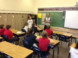 McKenry accompanied Bailey to her class and gave a talk about the importance of education.