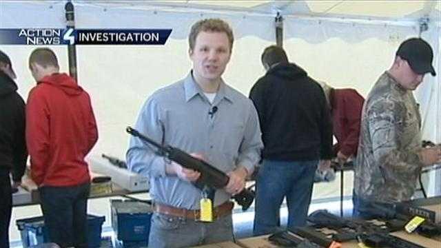 Bob Hazen holding gun
