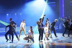 "PSY took to the stage with his latest hit, ""Gentleman,"" on the two-hour Season Finale of ""Dancing with the Stars the Results Show,"". (ABC/Adam Taylor)"