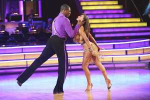 "JACOBY & KARINA - In a final element of the competition, the three remaining couples performed a new routine in an ""Instant Dance"" - where they tackled a style they knew, but to music given to them for the first time live on television. This routine was scored out of 30 and rounded out the judges' scores across both nights, on the two-hour Season Finale of ""Dancing with the Stars the Results Show,"" (ABC/Adam Taylor)"