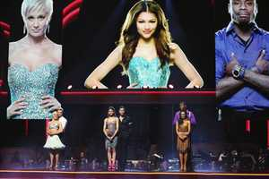 "In a final element of the competition, the three remaining couples performed a new routine in an ""Instant Dance"" - where they tackled a style they knew, but to music given to them for the first time live on television. This routine was scored out of 30 and rounded out the judges' scores across both nights, on the two-hour Season Finale of ""Dancing with the Stars the Results Show,"" (ABC/Adam Taylor"