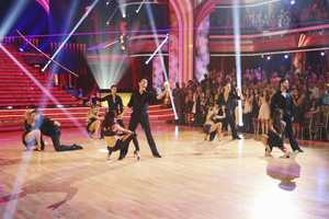 "The returning stars performed a show-stopping opening number with the pro and troupe dancers, on the two-hour Season Finale of ""Dancing with the Stars the Results Show,"". (ABC/Adam Taylor)"