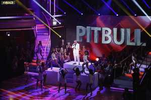 "The show featured music from Pitbull, who performed his new single, ""Hands Up,"" on the two-hour Season Finale of ""Dancing with the Stars the Results Show,"" (ABC/Kelsey McNeal)"
