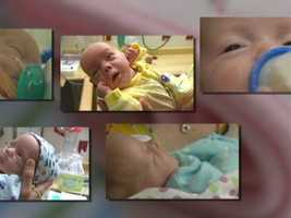 The five babies were born within five minutes on April 5.