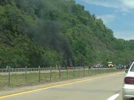 The inbound lanes of Route 28 near Tarentum were shut down because of a car fire on Thursday afternoon. You can always share breaking news photos on the u local page on WTAE.com or email them to ulocal@wtae.com.