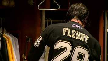 Jason Grilli wears No. 39 for the Pirates, but he's trading it in for Marc-Andre Fleury's No. 29