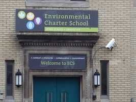 The program was launched at the Environmental Charter School in Regent Square. When the air conditions change, the flags change.