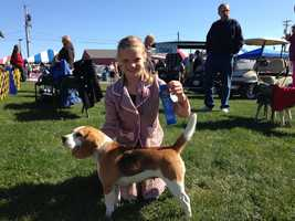 A young winner:  Heidi Johnston is a junior handler who won her class!