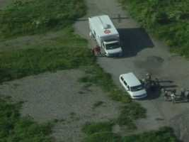County police searched for the body of Alivia Kail in a wooded area near the county airport in West Mifflin.