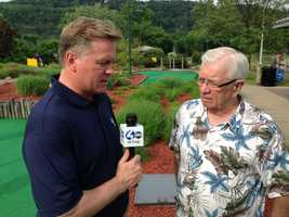 Weather Watch 4 Chief Meteorologist Mike Harvey interviews Joe DeNardo during Channel 4 Action News.
