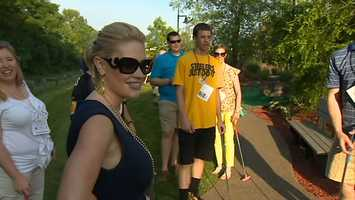 WTAE weekend anchor/reporter Jackie Schafer waits her turn.