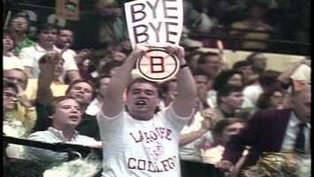 "It was 22 years ago when the Penguins beat the Bruins to go to the Stanley Cup Final. Today in 2013, just like in 1991, Pittsburgh fans want to say ""Bye Bye Boston"" again."