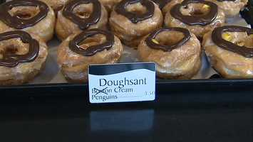 A doughsant is a cross between a doughnut and a croissant.