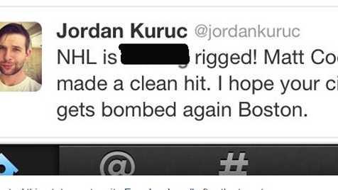 Jordan Kuruc Boston tweet