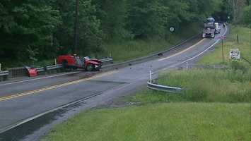Zelienople police said the car collided with a tractor-trailer on Route 68, also known as West Beaver Street.