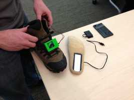 New start-up at AlphaLab that charges portable devices with a shoe insole!