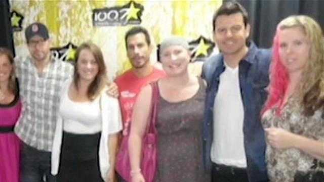 Kate Crawford with New Kids on the Block