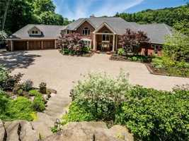 If you love entertaining, this Pine Township home is for you. With a game room, home theater, indoor basketball court and wine cellar, you'll have plenty to do with your friends. The home is featured on realtor.com.