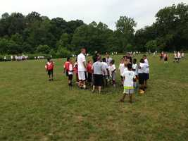 Prep and college coaches from the area helped Roethlisberger coach the kids.