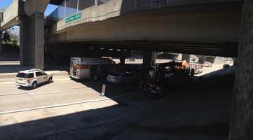 The East Ohio Street overpass on Interstate 279.