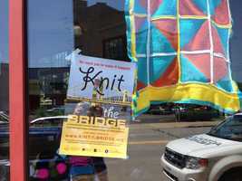 Knit the Bridge is coming together at the Spinning Plate Artist Lofts on Friendship Avenue.