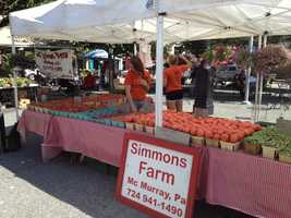 The farmers market is held every Thursday from 10 a.m. to 2 p.m., continuing until Oct. 31.