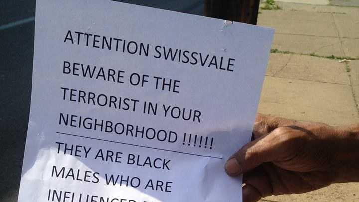 Swissvale terror posters