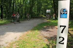 The Great Allegheny Passage is a bike and running trail that will lead you all the way from Pittsburgh to Washington, D.C. which is a 245 mile distance.(mentalfloss.com)