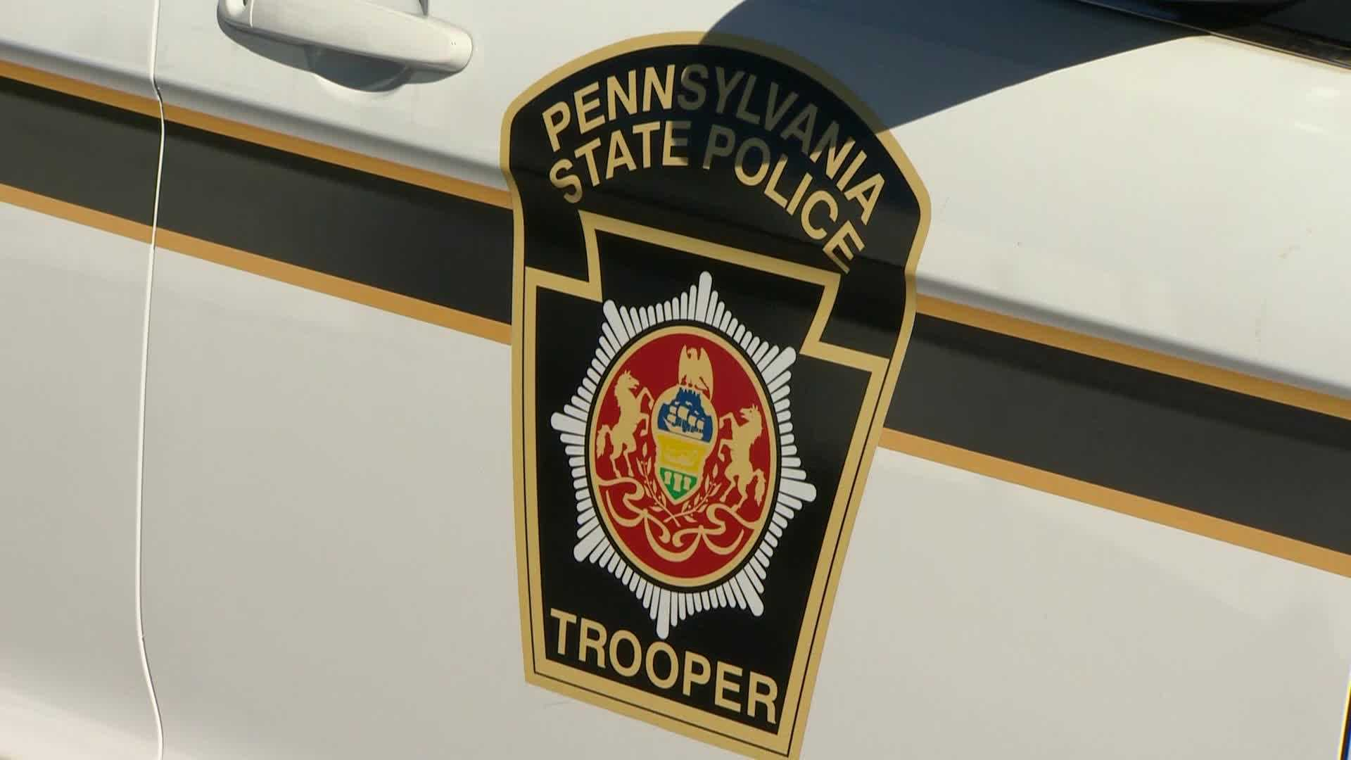 Pennsylvania State Police logo on car
