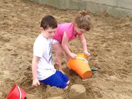 Kids can build sand castles at Beach 'Burgh.