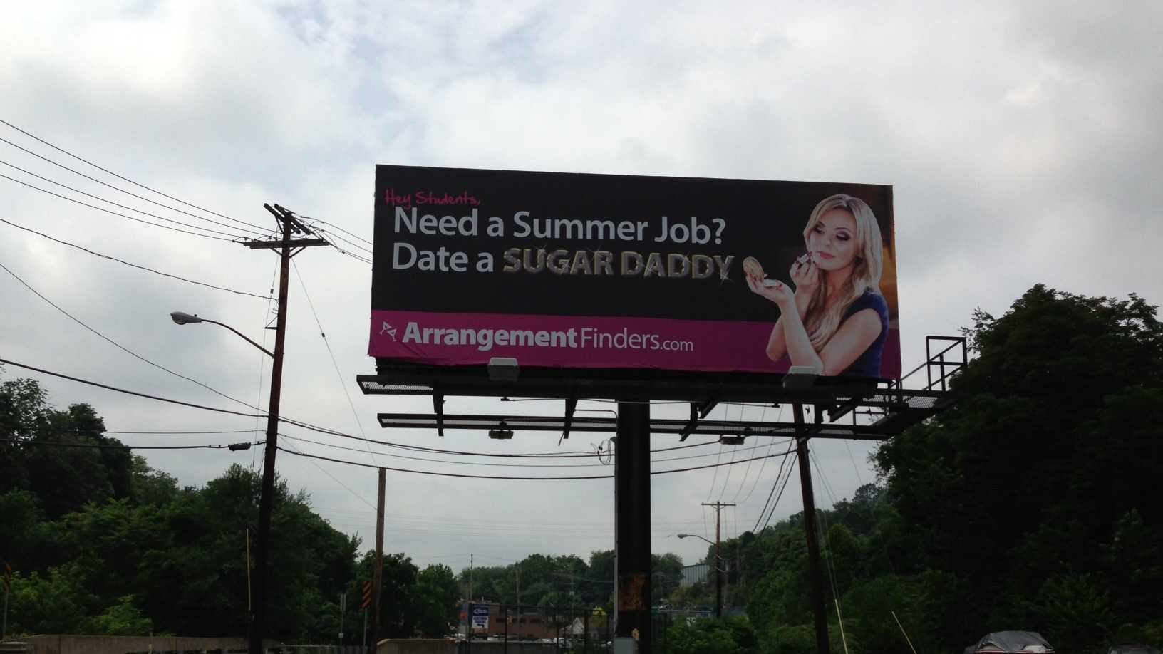 Billboard with porn star turning heads in Pittsburgh