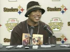 Hines Ward even sported a 'stache at one point in his Steelers career.