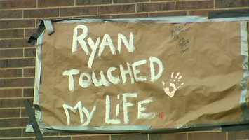 Ryan Richards is remembered at Highlands High School.