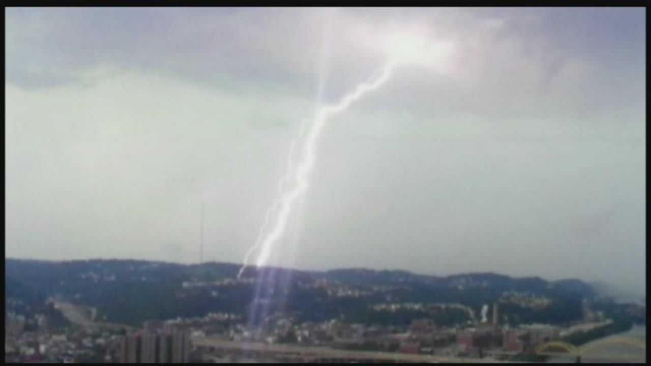 More storms bring lightning, some flash flooding
