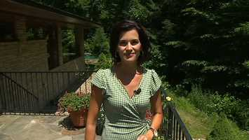 Channel 4 Action News anchor Wendy Bell got to tour the estate, which was inspired by Frank Lloyd Wright.