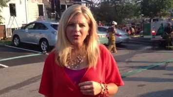 Amber Nicotra reports from the fire scene at McKenzie Place.