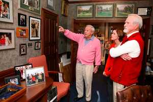 She was thrilled to have the opportunity to introduce her father to his favorite golfer, Latrobe's Arnold Palmer, who spent the day showing them his office, museum and golf club collection.