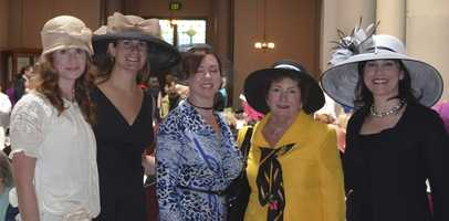 The annual Sojourner House Victorian Tea benefits a residential treatment program that helps mothers and children break the cycle of addiction. Michelle achieved her goal of wearing the biggest hat :)