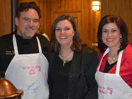 Recipe for Hope benefits women who are going through breast cancer treatment. Here is Michelle with organizer Bonny Diver and chef Jason Capps.