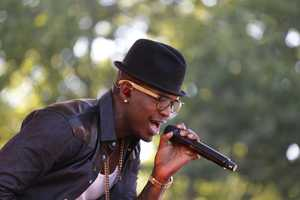 "Ne-Yo performs live in Central Park as part of the GMA Summer Concert Series, on ""Good Morning America,"" 8/2/13."