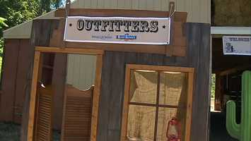 He first stopped at Outfitters, where he learned how to dress like a cowboy.