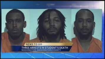 The suspects were identified as Eric Wells, Troy Simmons and Adam Hankins.