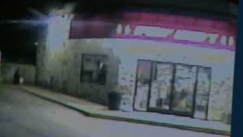 Here's a surveillance video image of Speedy Meedy's on Three Mile Road, just before the burglars showed up.