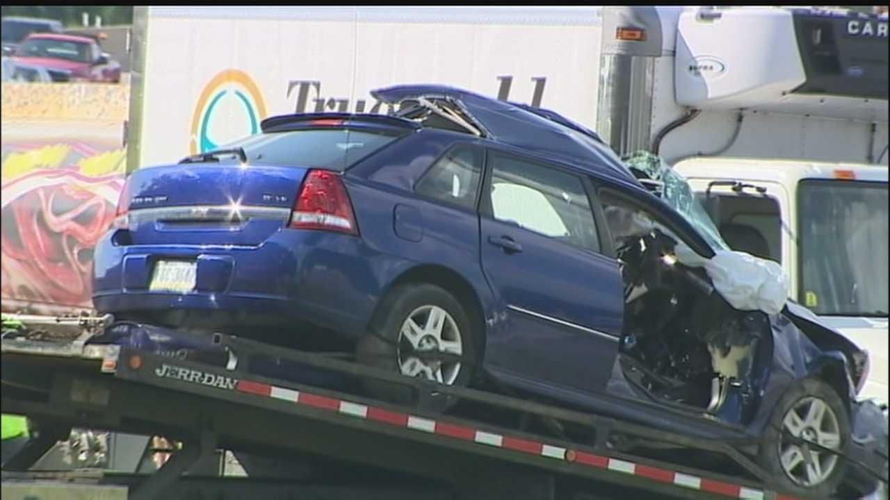 Tanker, box truck, car involved in crash on Interstate 79